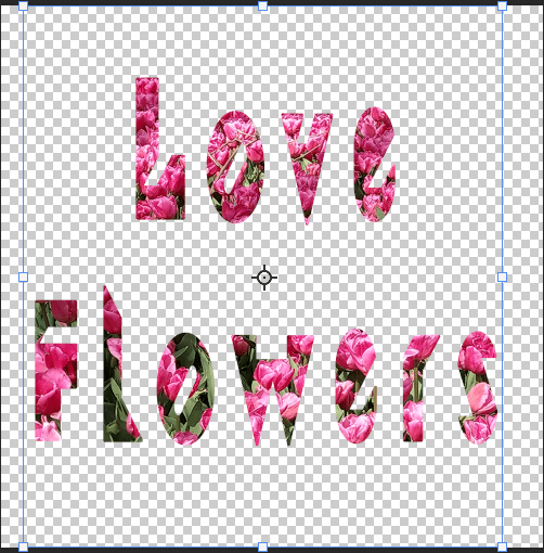 clipping mask result