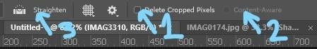 Crop Top tool bar