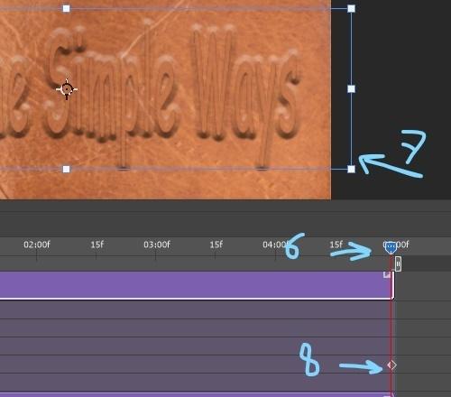 video timeline end