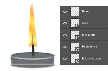 candle parts