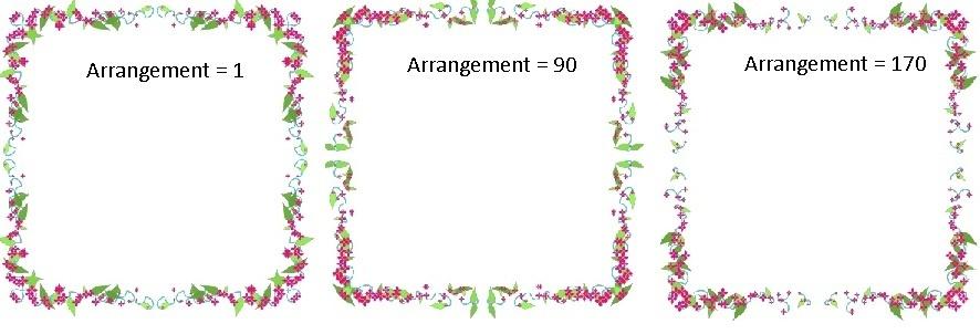 arrangement - frame 11 -examples