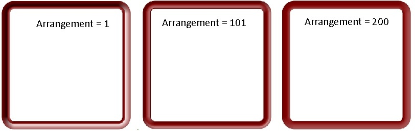 arrangement - frame 43- examples