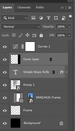 Drag the Text and cover layers