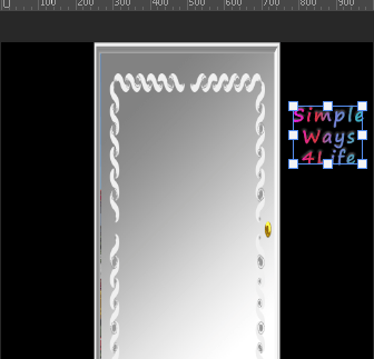 Add text in the area of the cover layer
